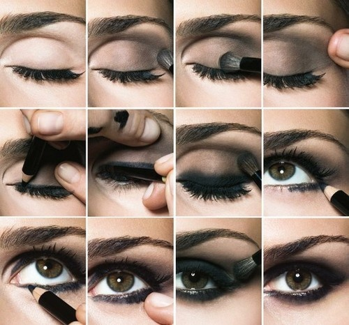 Image result for smokey eyes using pencil eye liner